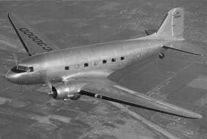This is a DC3.  We will be flying in one of these with our stuff to the DR