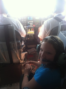Lexie loved sitting with the pilots