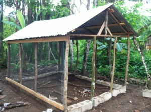 The finished structure minus a little bit of chicken wire