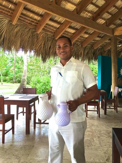 Daniel, our helpful waiter